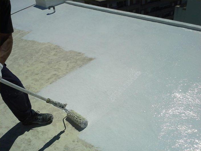 Trabajos sobre cubiertas e impermeabilización de superficies